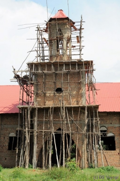 building a church, towards Mbale