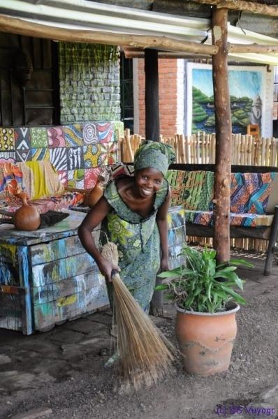 Rachel at Redrocks Camp, Nyakinama near Musanze aka Ruhengeri, Rwanda
