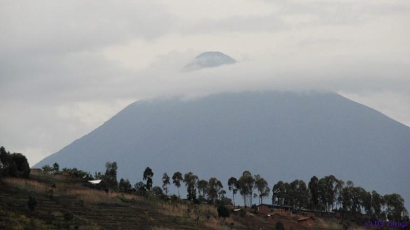 Muhavura volcano, from Lake Ruhondo